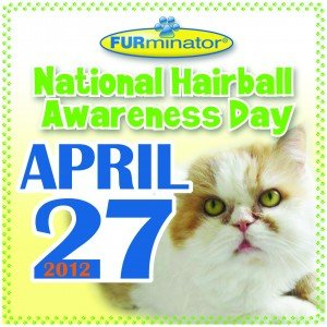 National Hairball Awareness Day 2012 badge