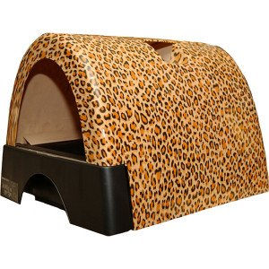 Kitty a-Go-Go litterbox in leopard pattern