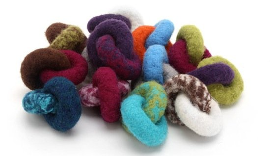 Lynks felted wool toys from Hauspanther Studios