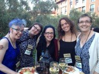 JaneA and fellow cat bloggers at BlogPaws 2014