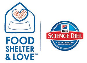 Hills Food, Shelter, Love logo and Science Diet logo