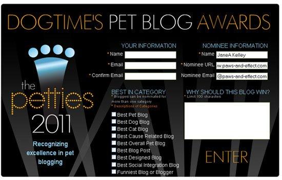 Petties Award screen shot