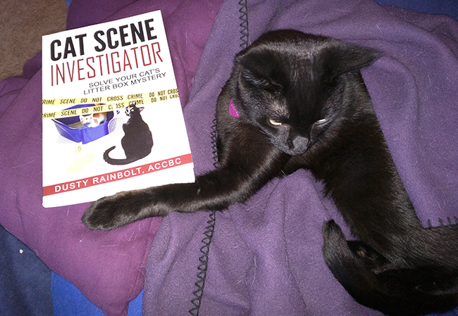 Cat Scene Investigator is a book that explores inappropriate urination and how to solve the problem.